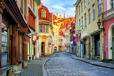 Old town of Tallinn, Estonia Stock Photo