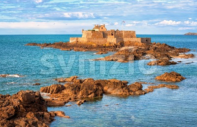 English Channel by Saint-Malo, Brittany, France Stock Photo