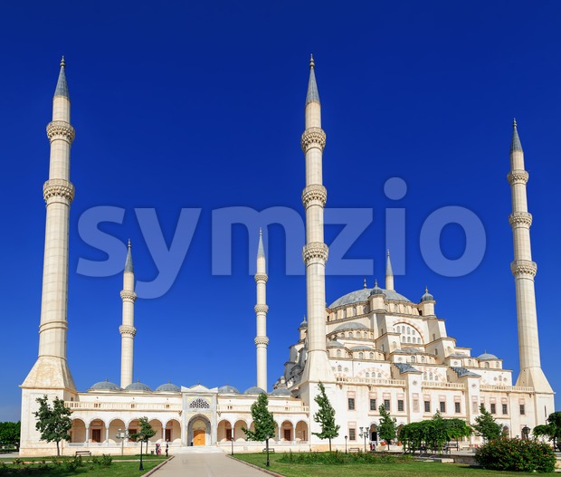 Sabanci mosque in Adana, Turkey Stock Photo