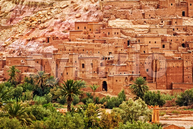 Ait Benhaddou clay kasbah town, Morocco Stock Photo