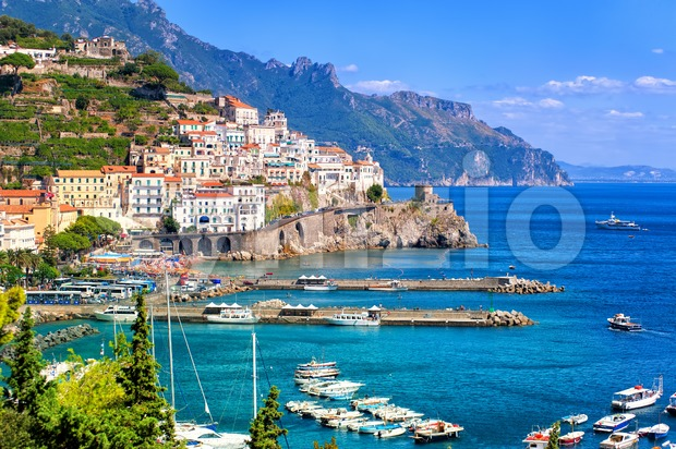 Amalfi town in southern Italy near Naples Stock Photo