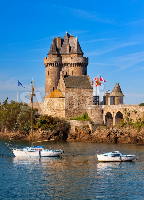 Tour Solidor, a medieval fortified tower in Saint-Malo, Brittany, France