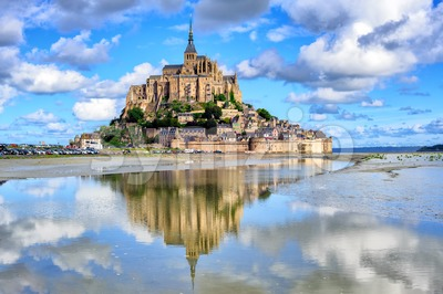 Le Mont-Saint-Michel island, Normandy, France Stock Photo