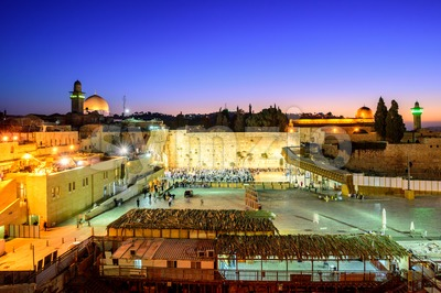 The Western Wall and Temple Mount, Jerusalem, Israel Stock Photo