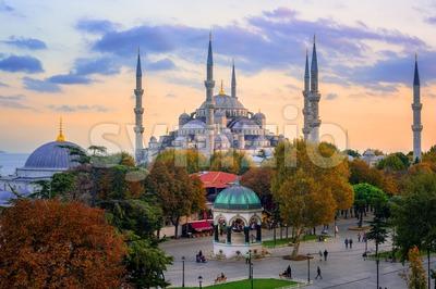 Blue Sultanahmet Mosque, Istanbul, Turkey Stock Photo