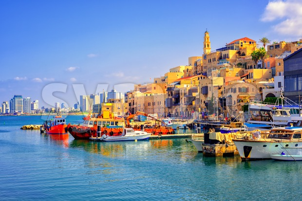 Old town and port of Jaffa, Tel Aviv city, Israel Stock Photo
