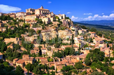 Gordes historical hilltop town, Provence, France Stock Photo