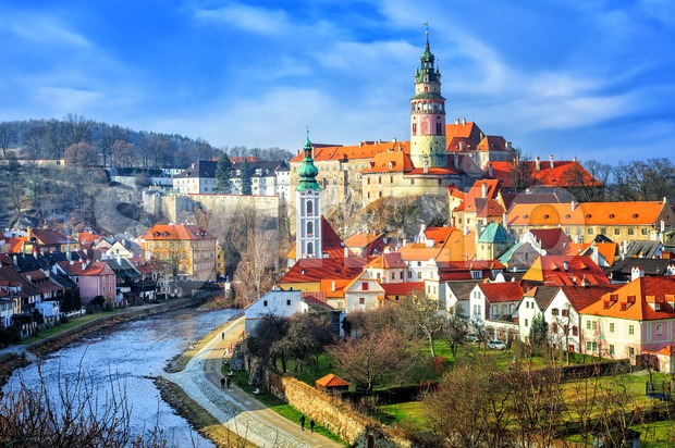 Cesky Crumlov old town, Czech Republic Stock Photo