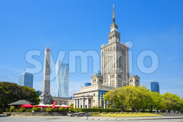 Palace of Culture and Science, Warsaw, Poland Stock Photo