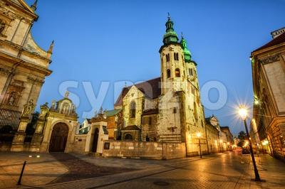 Church of St Andrew, Krakow Old Town, Poland Stock Photo