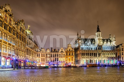The Grand Place with Breadhouse, Brussels, Belgium Stock Photo