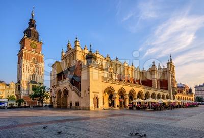 The Cloth Hall in Krakow Olt Town, Poland Stock Photo