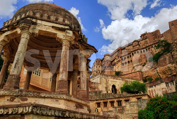Mehrangarh Fort in Jodhpur, Rajasthan, India Stock Photo