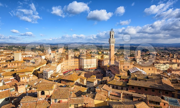 Piazza del Campto, Old Town of Siena, Tuscany, Italy Stock Photo