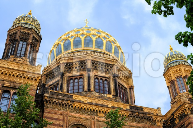 The Neue Synagoge was the main synagogue of Berlin, Germany, and was severe damaged by the Nazi during World War ...