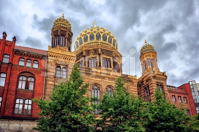 The New Synagogue in Berlin, Germany Stock Photo