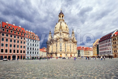 Frauenkirche Church in the old town of Dresden, Germany Stock Photo