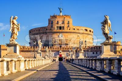 Castel Sant'Angelo, Mausoleum of Hadrian, Rome, Italy Stock Photo