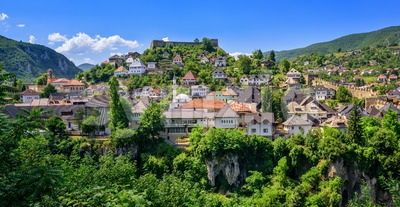 The old town of Jajce, Bosnia and Herzegovina Stock Photo