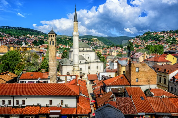 Old Town of Sarajevo, Bosnia and Herzegovina Stock Photo