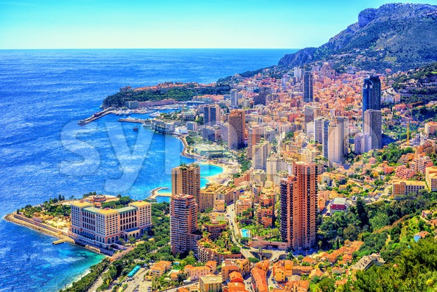 Monaco and Monte Carlo, Cote d'Azur, Europe Stock Photo