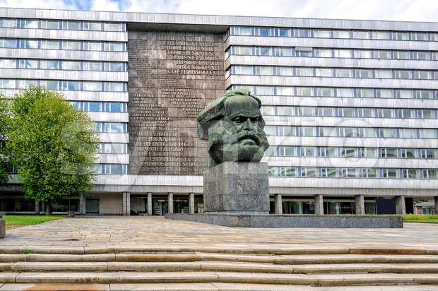 The Karl Marx Monument, Chemnitz, Germany Stock Photo