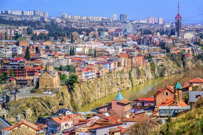 City center of Tbilisi, Georgia Stock Photo