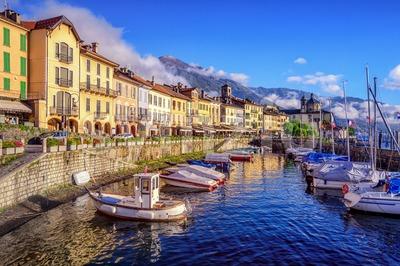 Cannobio old town, Lago Maggiore, Italy Stock Photo