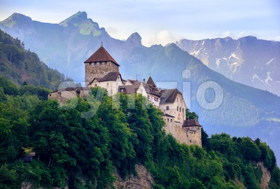 Vaduz Castle, Liechtenstein, Alps mountains, Europe Stock Photo