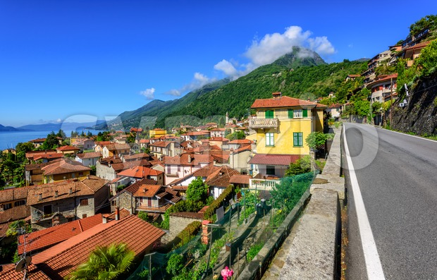 Cannero old town, Lago Maggiore, Italy Stock Photo