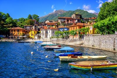 Mergozzo old town, Lago Maggiore, Italy Stock Photo