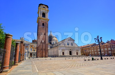 Duomo di Torino is catholic cathedral in Turin, Italy Stock Photo