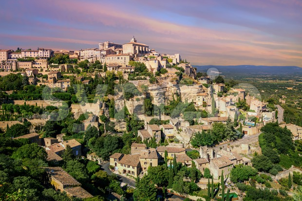 Old Town of Gordes, Provence, France Stock Photo
