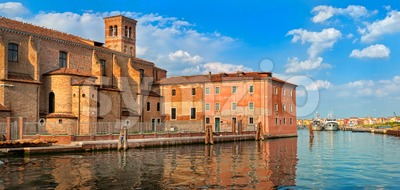 Venetian castle in Chioggia, Venice, Italy Stock Photo