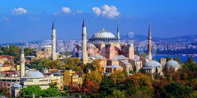 Hagia Sophia basilica in Istanbul city, Turkey Stock Photo
