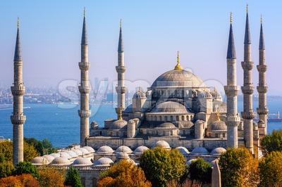 Blue Mosque Sultanahmet Camii, Istanbul, Turkey Stock Photo