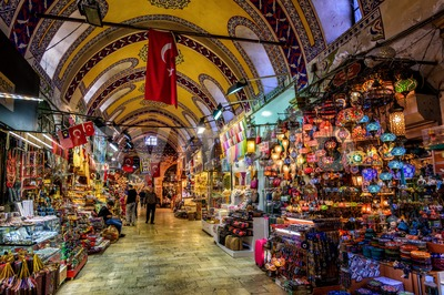 The Grand Bazaar in Istanbul, Turkey Stock Photo