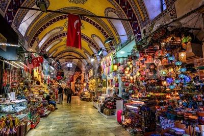 The Grand Bazaar in Istanbul, Turkey Stock Photo