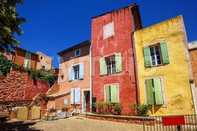 Old Town of Roussillon, Provence, France Stock Photo