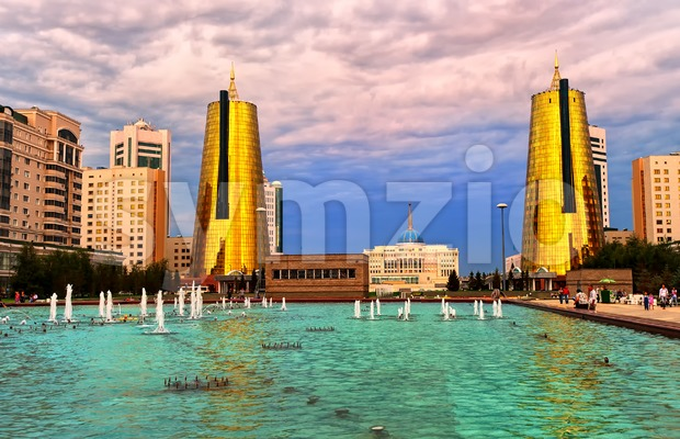 View to President Palace in Astana, capital of Kazakhstan Stock Photo