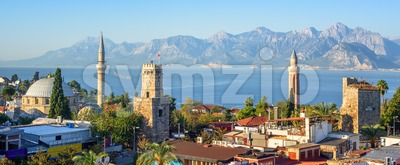 Panoramic view of Antalya Old Town, Turkey Stock Photo