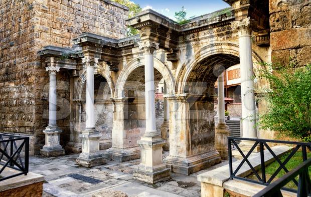 Hadrians's Gate in Antalya, Turkey Stock Photo