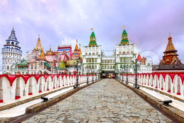 Izmailovsky Kremlin, Moscow, Russia Stock Photo