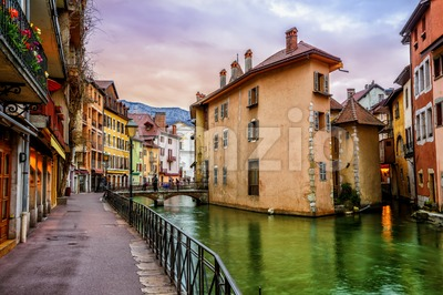 Annecy Old Town, Savoy, France Stock Photo