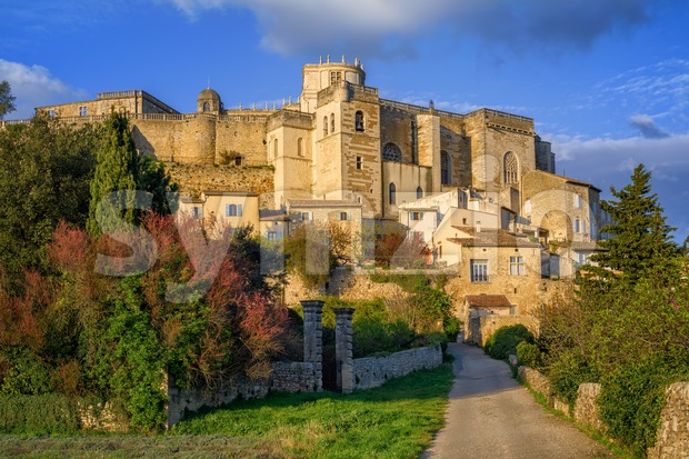 Medieval town Grignan in Drome provencal, France Stock Photo