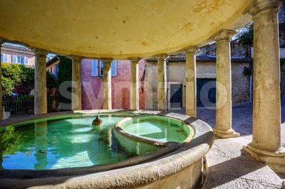 The neo-classical washhouse in Grignan, France Stock Photo