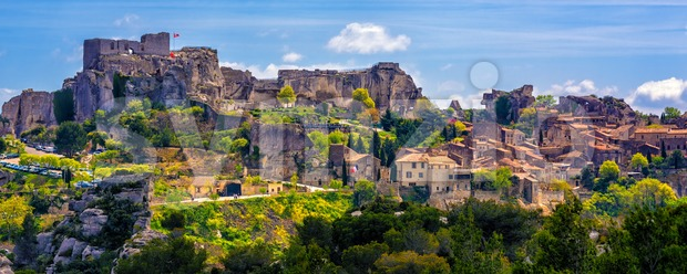 Les Baux-de-Provence village, Provence, France Stock Photo