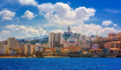 Marseilles city panorama, Provence, France Stock Photo