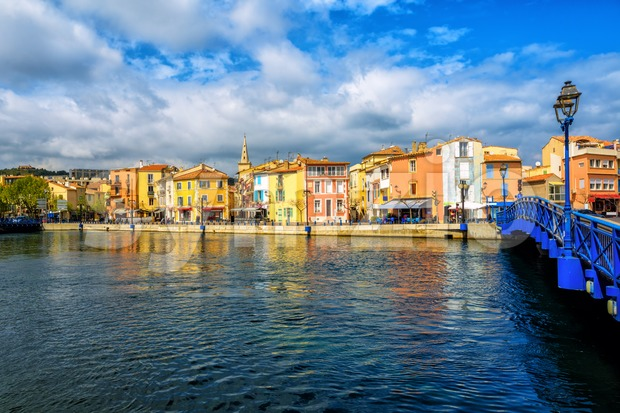 Martigues Old Town, Provence, France Stock Photo