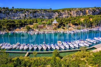 Calanque de Port Miou by Marseille, Provence, France Stock Photo